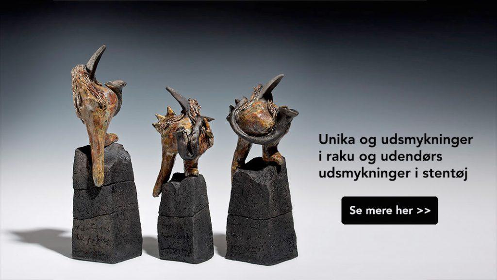 Raku unika stentøj kunst fra Gerd Baarstrøm